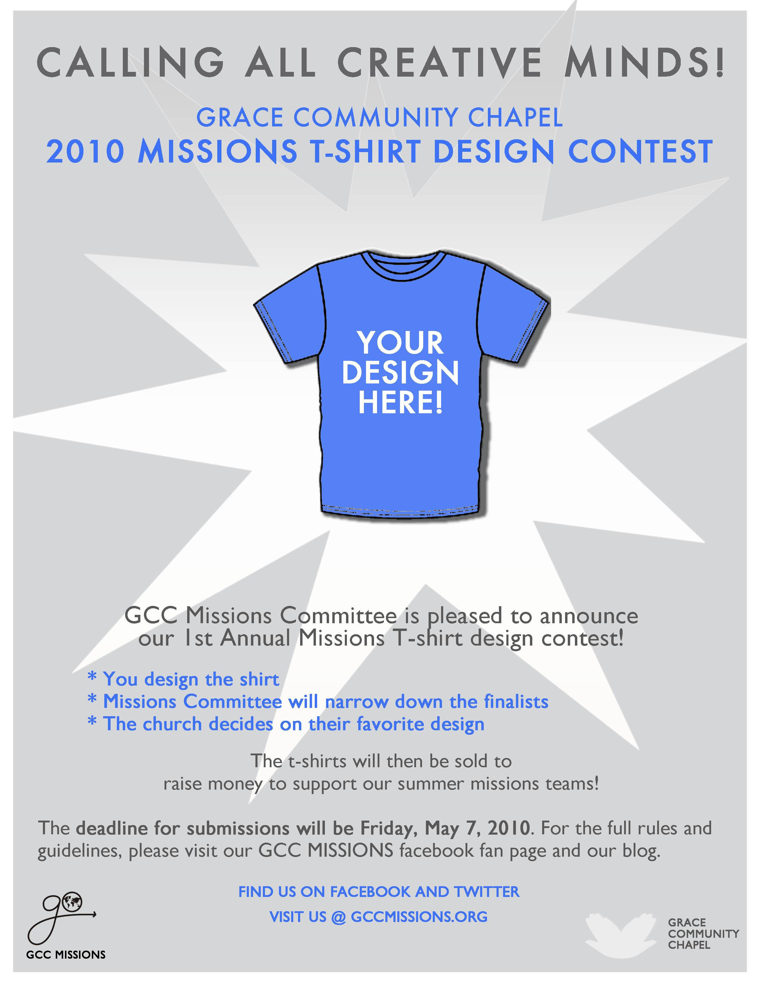 t shirt design contest gcc 39 s missions blog